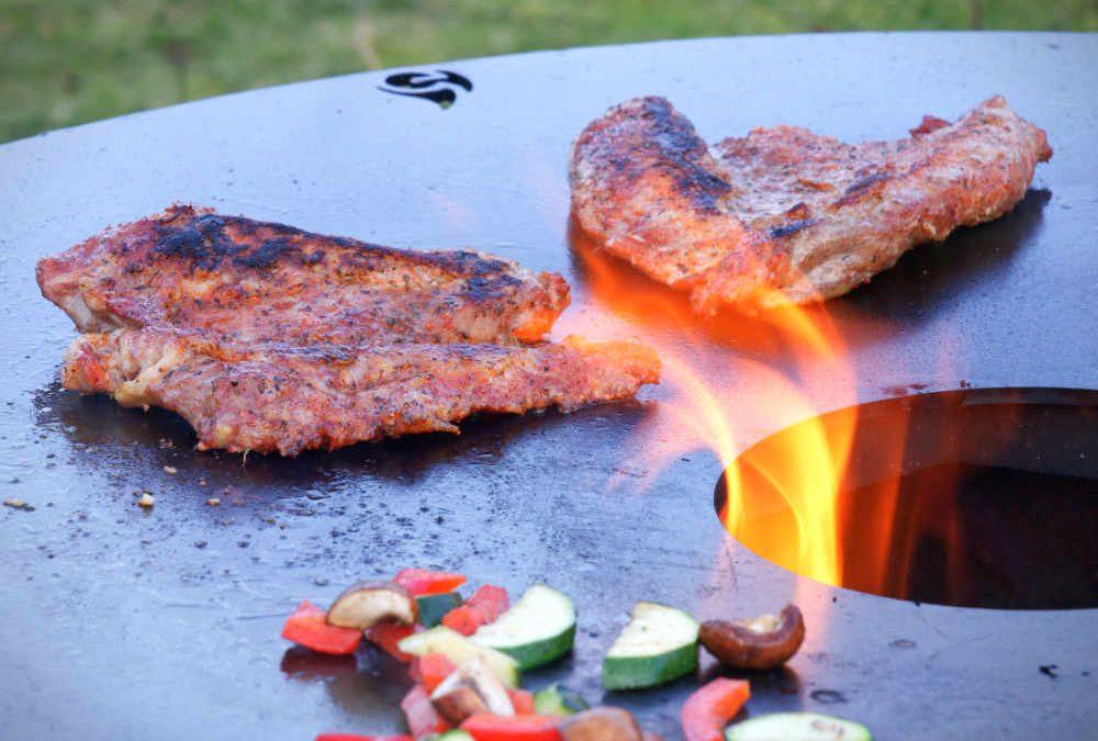 Test: Feuerplatte von grillrost.com (100cm)