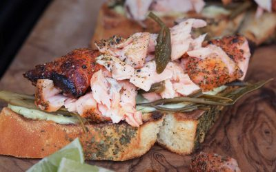 Pulled Lachs Crostini