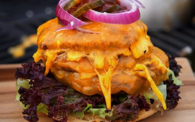 Triple XXL Cheddar Cheeseburger