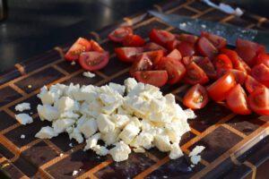 Feta und Tomaten