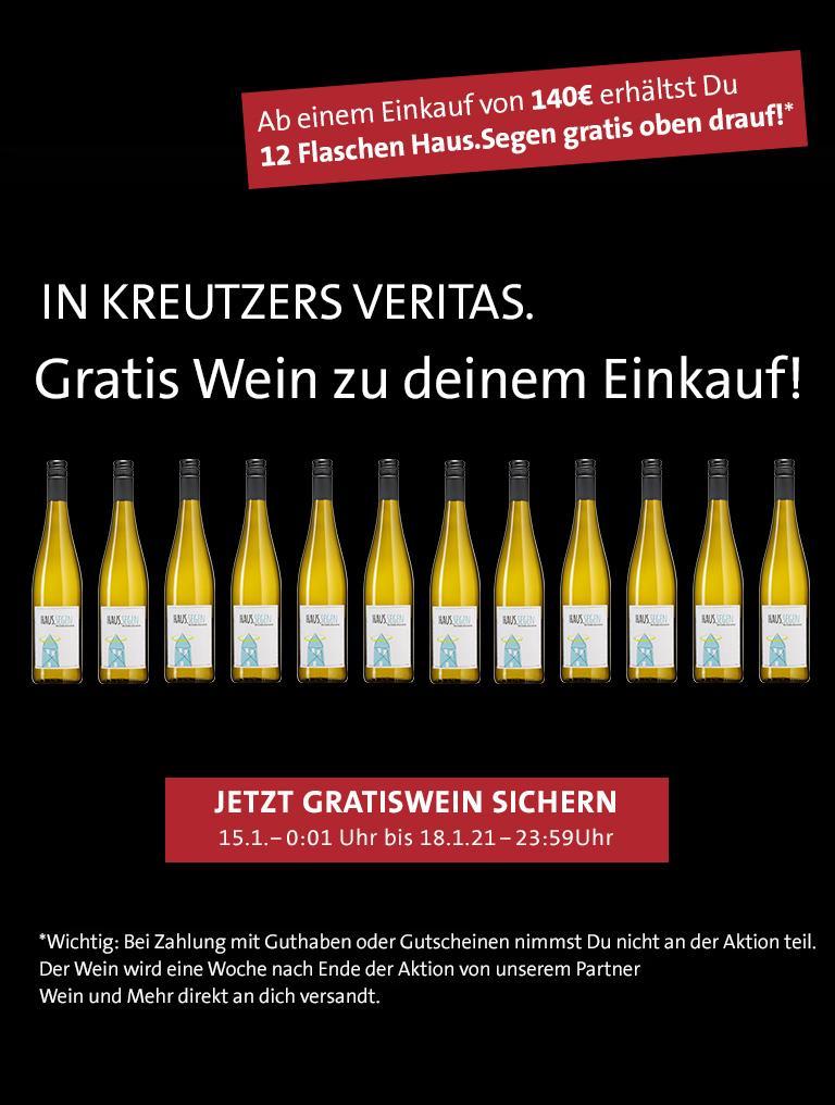 Aktuelle Aktion Kreutzers: Wein umsonst