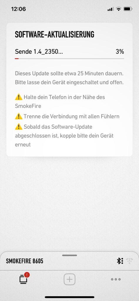 Akutelle Software des SmokeFire